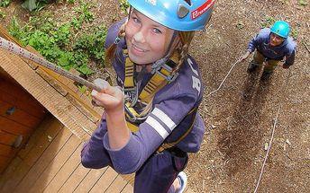 Adrenalin v lanovém parku a lanovkovém světě