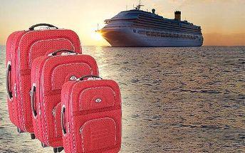 Sada cestovních kufrů na kolečkách - různé barvy