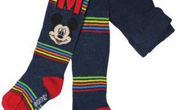 E plus M Chlapecké punčocháče s proužky Mickey Mouse - tmavě modré, 62-74