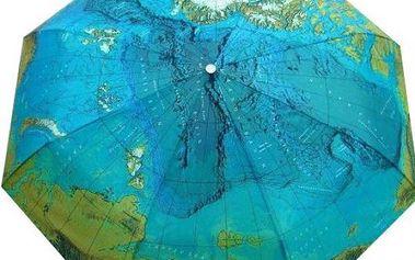 Skládací deštník s mapou světa!