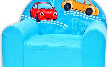 Baby Nellys Dětské křesílko Veselá autička v modrém
