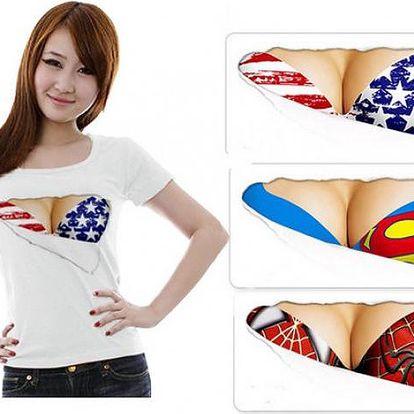 Dámské tričko s potiskem Sexy - ukažte svá nová prsa!