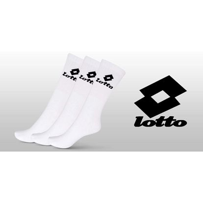 6 párů bílých ponožek Lotto
