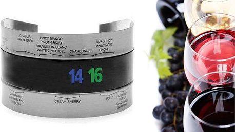 Originální senzorický teploměr na víno a sekt pro zjištění správné teploty