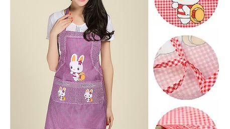 Kuchyňská zástěra s králíčkem