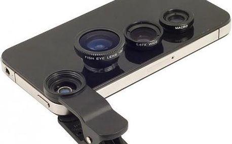 Přídavné objektivy pro smartphone 3v1 pro ještě lepší fotografie!