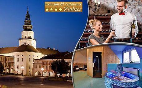 Relaxační wellness s degustací vín a polopenzí v Penzionu Zlobice***+ a 2 děti do 12 let zdarma