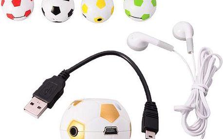 MP3 přehrávač fotbalový míč!