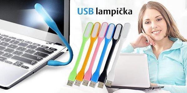 USB lampička k notebooku s led světlem. Lampička je tvarovatelná, praktická a je k dostání ve více barvách.