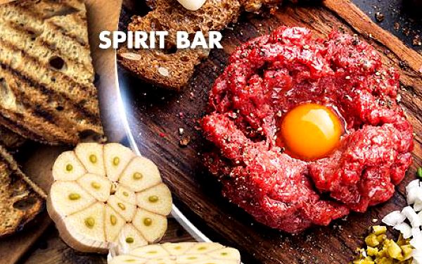 300g tatarský biftek z pravé svíčkové + 12 ks topinek pro dva ve Spirit Baru na Žižkově! Možné topinky navíc zdarma!