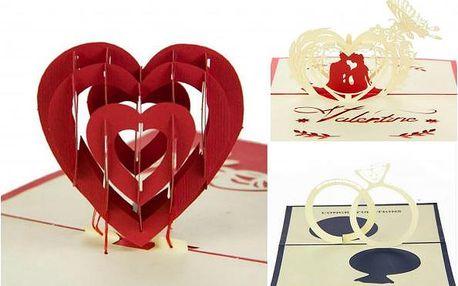 Zamilovaná 3D přáníčka