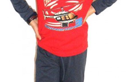 Chlapecké pyžamo Vrtulník - VÝPRODEJ