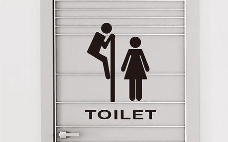 Samolepka na dveře toalety