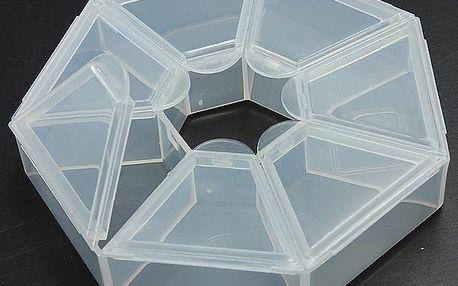 Plastový box na drobné předměty - 7 přihrádek