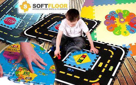 Pěnové herní podložky z puzzle dílků včetně poštovného pro vzdělávání dětí zábavnou formou! Hodiny, mapa či silnice.