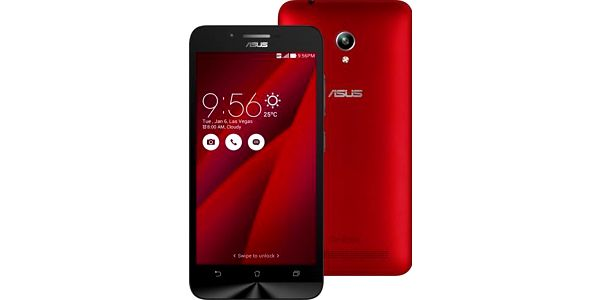 Asus ZenFone GO ZC-500TG, červená; 90AZ00V3-M00460