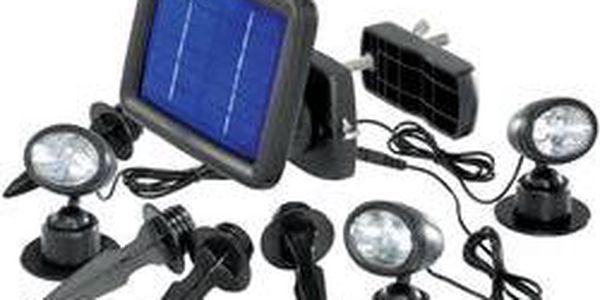Solární LED svítidlo Renkforce Trio, SP303K, černá, 3 ks