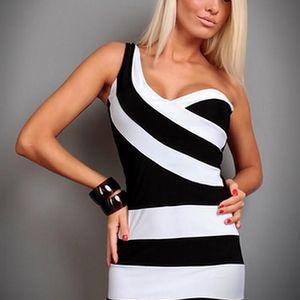 Černobílé šaty