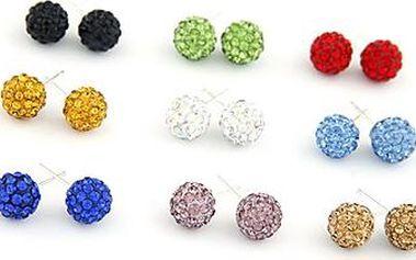 Náušnice - disco ball - 9 barev