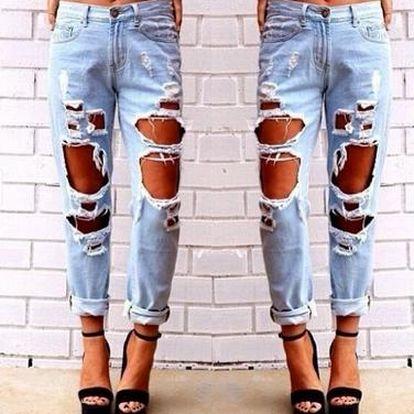 Originální trhané džíny