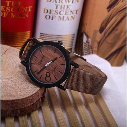 Náramkové hodinky s motivem dřeva!