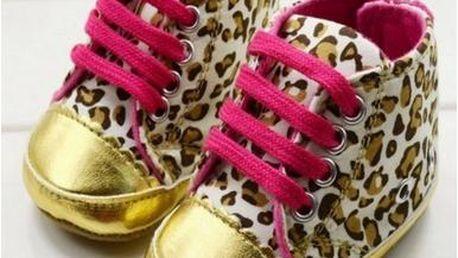 Capačky pro batolata - leopard