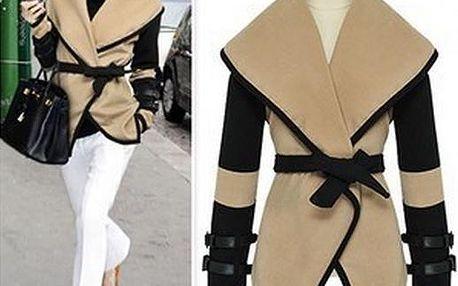 Dámský kabátek s páskem