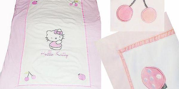 Hello Kitty peřina, přikrývka 80x 120cm