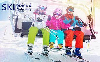 LAST MINUTE: Velikonoční lyžovačka v areálu SKI Příčná s polopenzí a 2 dětmi do 12 ZDARMA