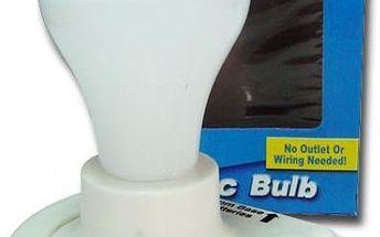 Bezdrátová plastová žárovka na baterky - osvětlete tmavé kouty bytu!