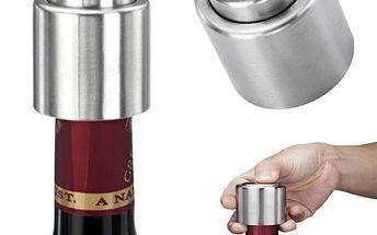 Kovová vakuová zátka na víno - dodání do 2 dnů