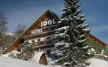 Krkonoše - pobyt ve 3* WELLNESS hotelu Idol pro 2 osoby na 3 až 7 dní s polopenzí.Snídaně s vital koutkem, 3chodové večeře, privátní vířivka, sauna odpolední káva nebo čaj a svařák! Skvělý relax na Dolních Mísečkách v Krkonošském národním parku!U pobytů