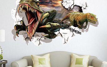 3D samolepka na zeď s dinosaury - dodání do 2 dnů