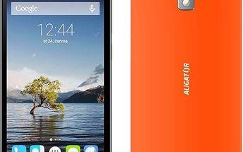 Aligator S5080 (MTOSOOS508051) oranžový + dárek SIM s kreditem T-mobile 200Kč Twist Online Internet (zdarma) + Doprava zdarma