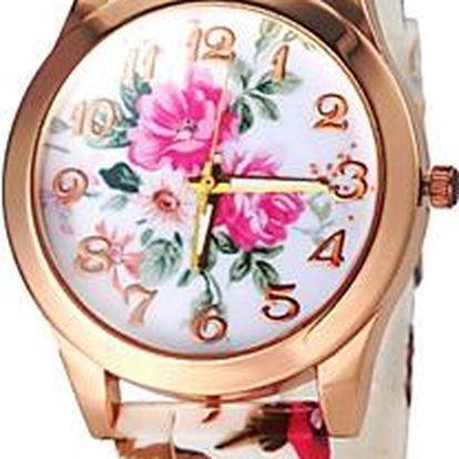 Silikonové hodinky - kytka