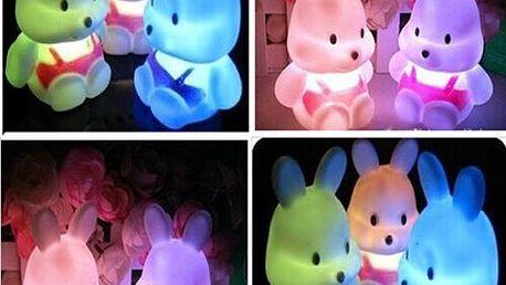 Dětská LED lampička v podobě králíčka - skladovka - poštovné zdarma