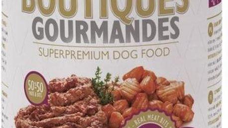 Superprémiová konzerva pro psi Brit Boutiques Gourmandes Salmon Bits & Paté 400 g
