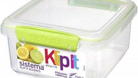 Sistema Velký box na obědy 1,2 l, Zelená