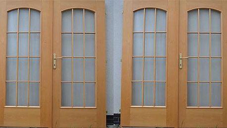 Bukové masivní dveře