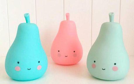 Little Lovely Company Noční mini světýlko Hruštička - růžová
