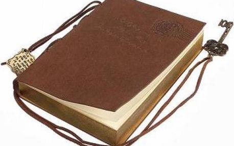 Koženkový retro zápisník - světle hnědá - dodání do 2 dnů