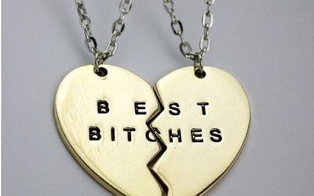 Náhrdelník Best bitches nebo Best friends forever!