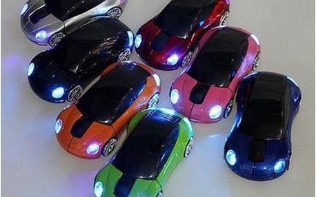 Bezdrátová PC myš - autíčko 7 barev
