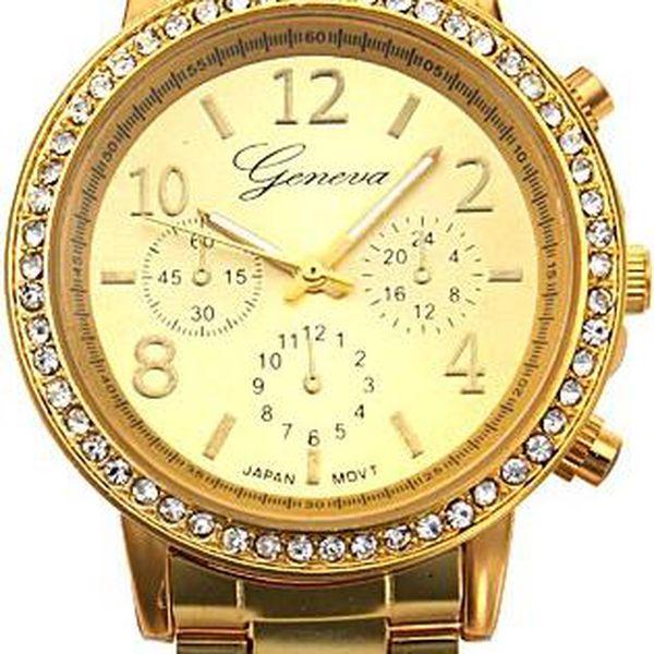 Dámské luxusní hodinky s drobnými kamínky - skladovka - poštovné zdarma