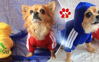 Bavlněný psí obleček Adidog včetně poštovného! Velikosti: S, M. Barvy: červená, černá, modrá, žlutá, u velikosti M i šedá.