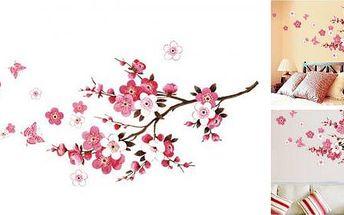 Samolepka na zeď Třešňové květy