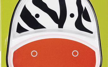 SKIP HOP Zoo Talířek 2v1 - Zebra