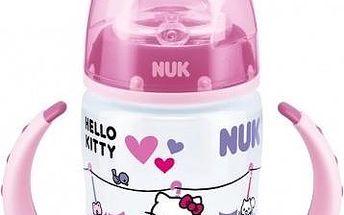 NUK FC lahvička na učení PP Hello Kitty 150ml,SI pítko