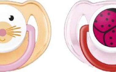 AVENT Dudlík zvířátko zajíc + beruška 2ks (silikon) - 6-18 měsíců