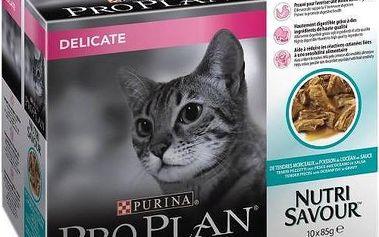 Purina Pro Plan CAT DELICATE Mořské ryby 10 x 85g